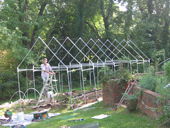 Russell building the Greenhouse