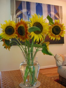 Sunflowers for the vase
